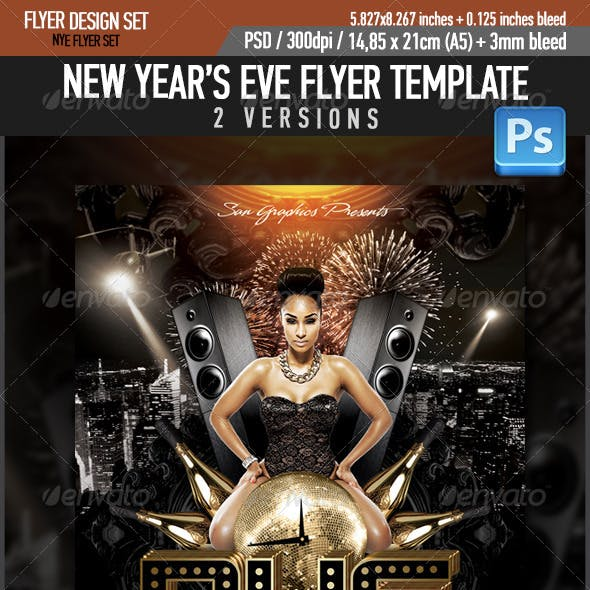 NYE New Year's Eve Party Flyer Template