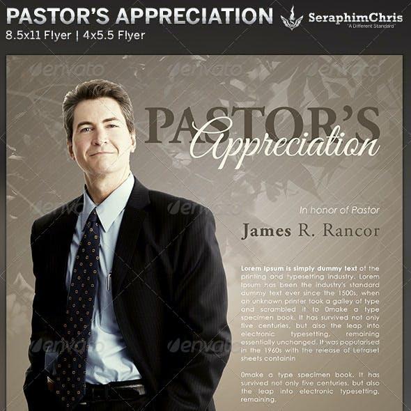 Pastor's Appreciation: Church Flyer Template