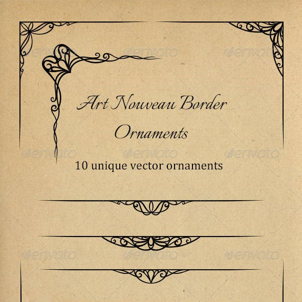 Art Nouveau Border Ornaments
