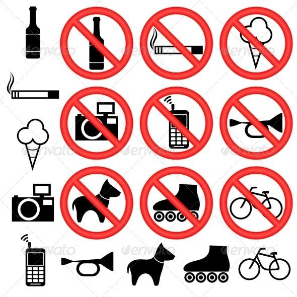 Prohibitory Signs.