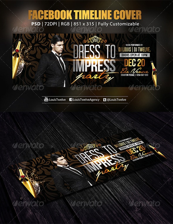 Dress to Impress Party | Facebook Cover - Facebook Timeline Covers Social Media