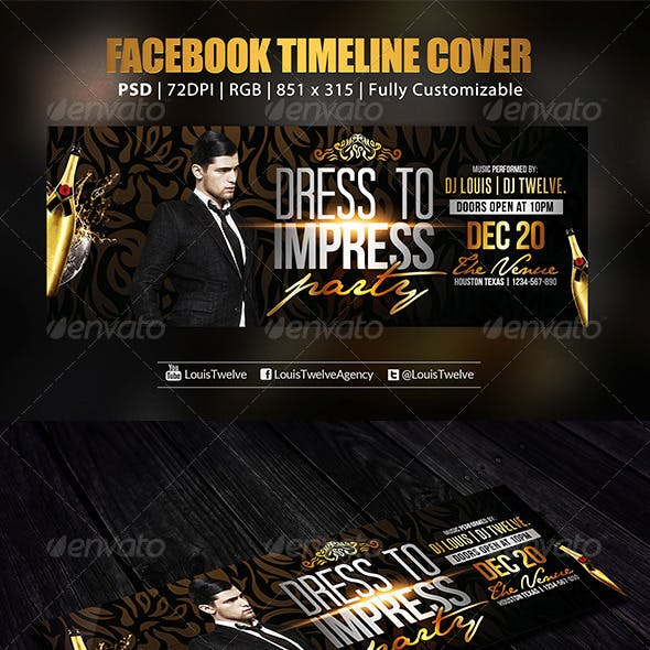 Dress to Impress Party | Facebook Cover