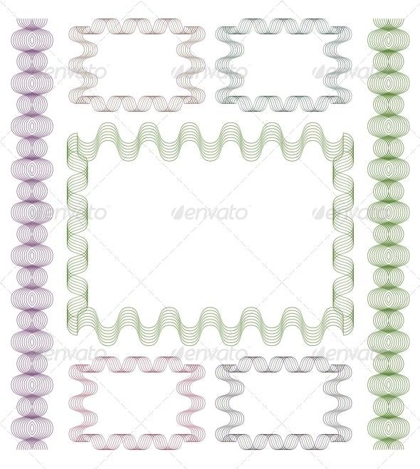 Set of Guilloche Frames. - Borders Decorative