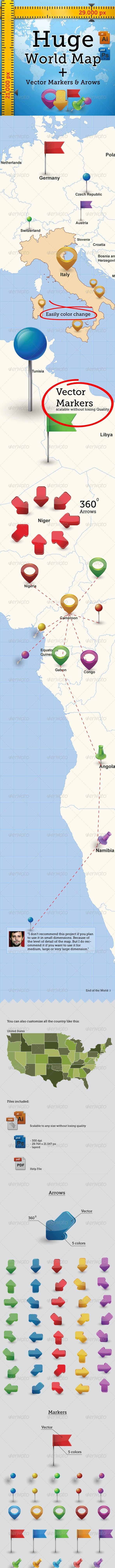 Huge Detailed World Map