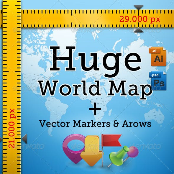 Huge Detailed World Map