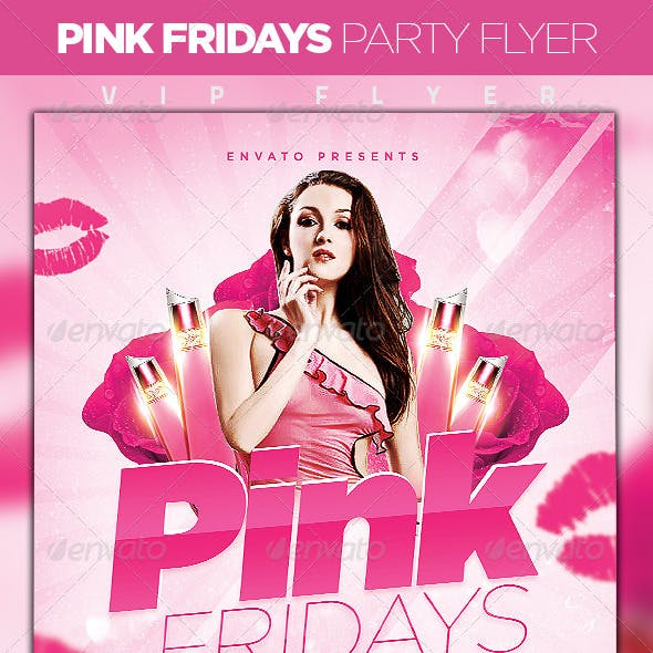 Pink Friday Party Flyer