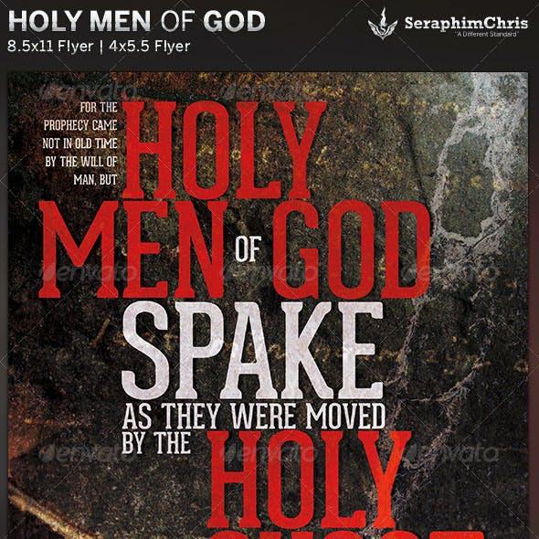 Holy Men of God: Church Flyer Template