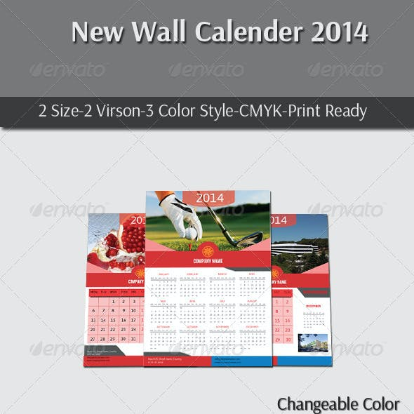 New Wall Calender 2014