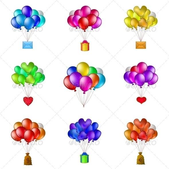 Balloons Bunches, Set