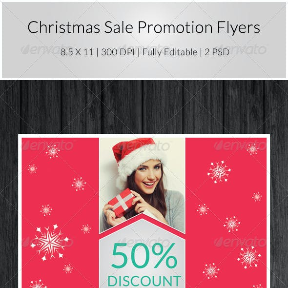 Christmas Sale Promotion Flyers