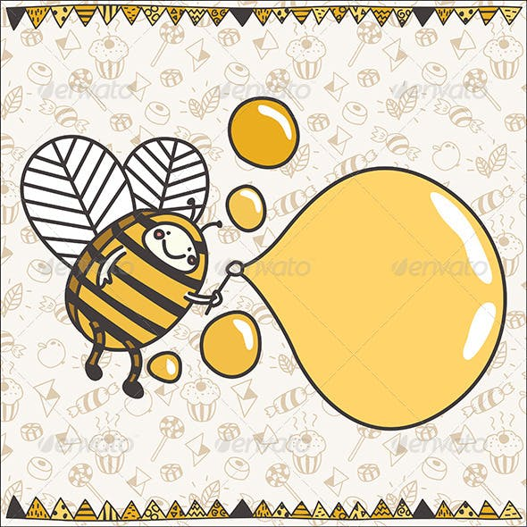 Funny Bubble Bee