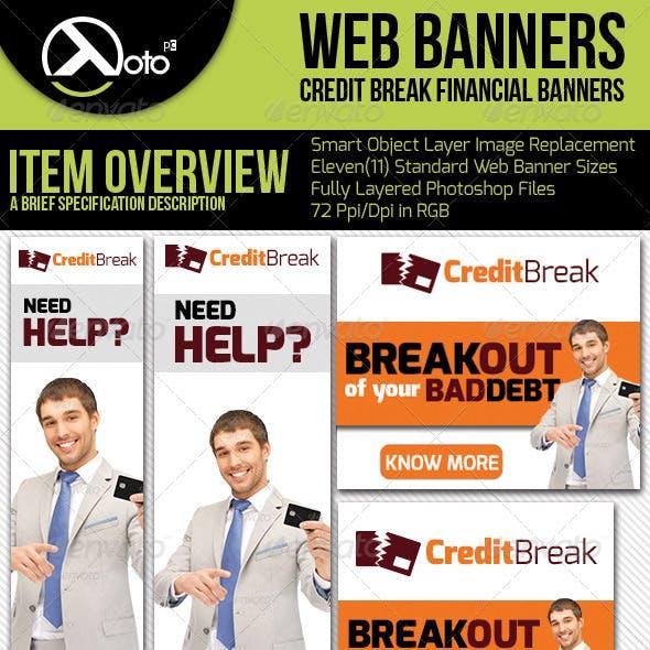 Credit Break Financial Web Banners