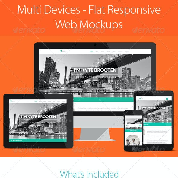 Multi Devices - Flat Responsive Web Mockups