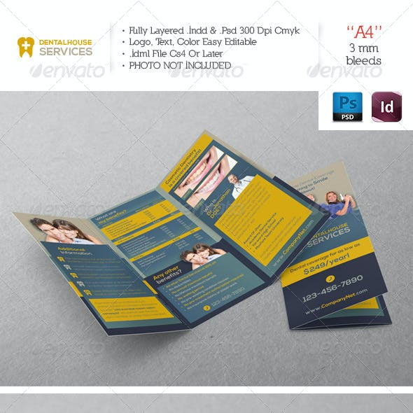 Dental Services Trifold Template