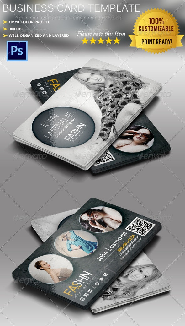 Fashion Designer Business Card - Industry Specific Business Cards