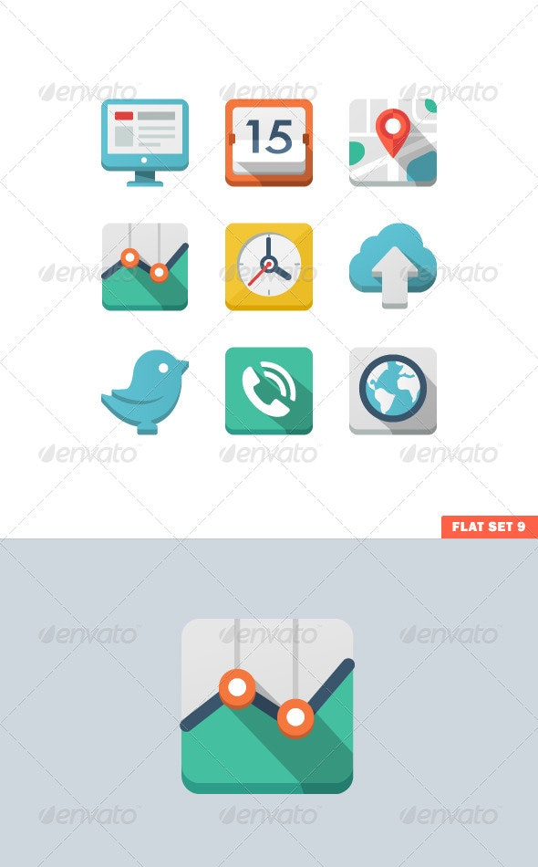 Universal Flat Icon Set - Icons
