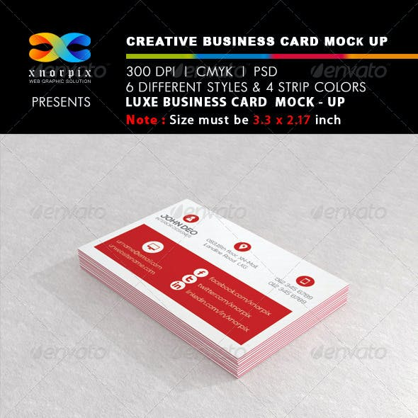 Luxe Business Card Mock-up