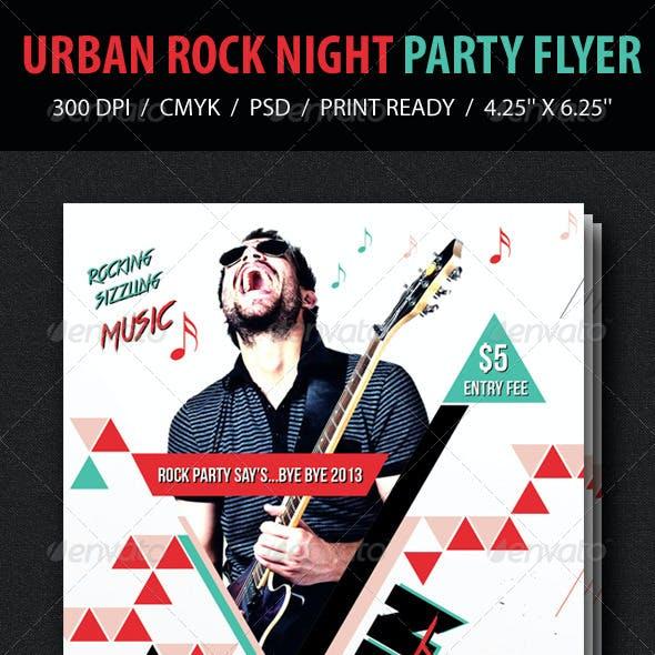 Urban Rock Night Party Flyer