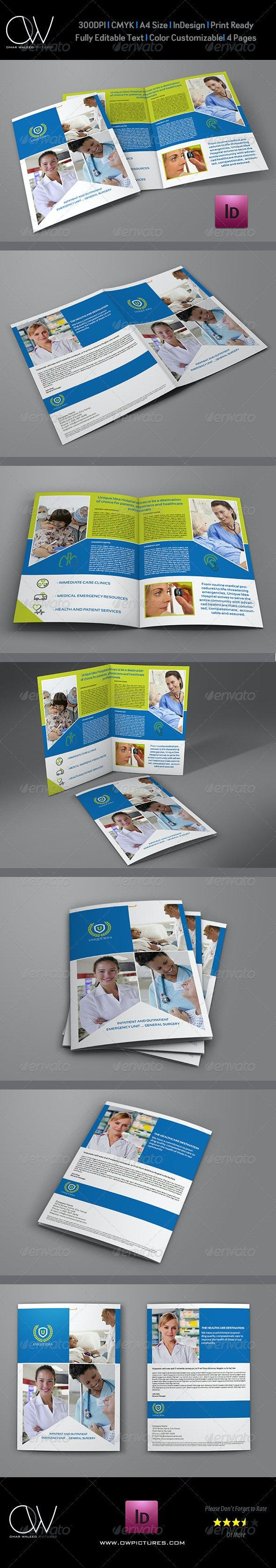Hospital Bi-Fold Brochure Template - Corporate Brochures