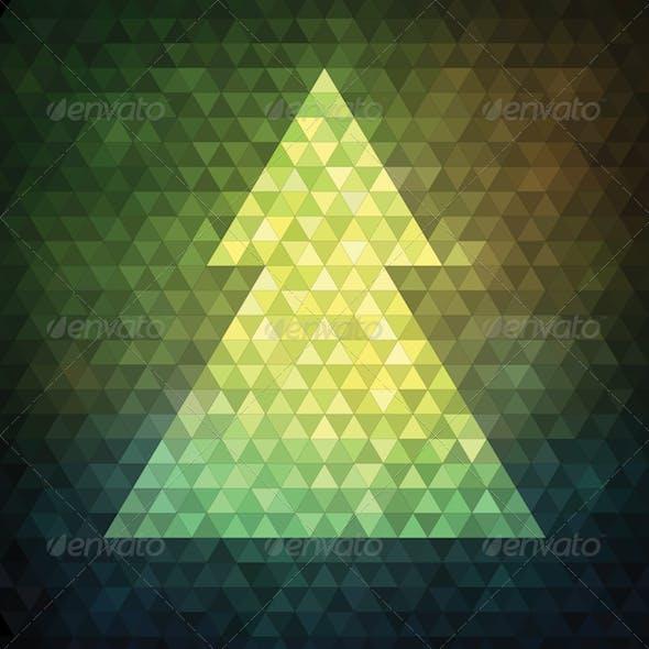 Triangle Mosaic Christmas Tree