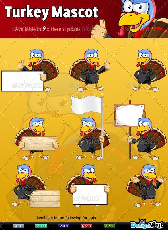Turkey Mascot - Animals Characters