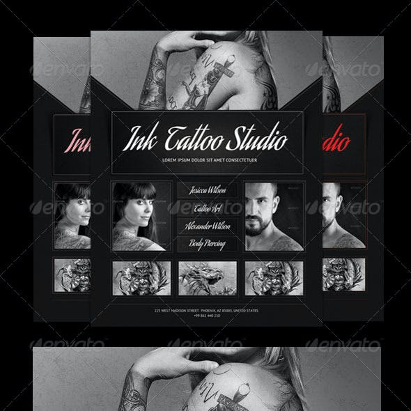 Ink Tattoo Studio Flyer