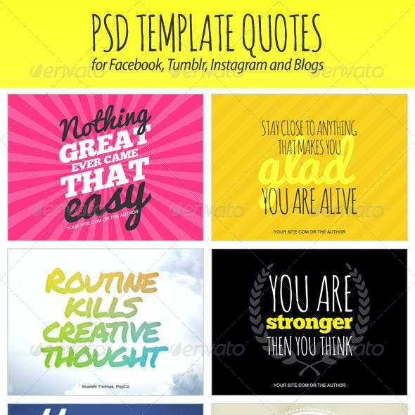 PSD Template Quotes