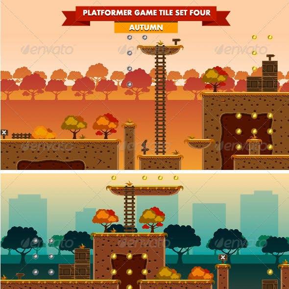 Platformer Game Tile Set Four