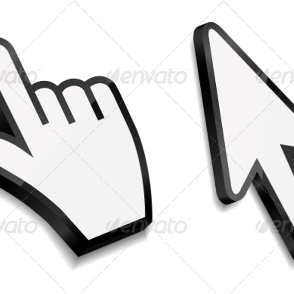 Mouse Hand and Arrow Cursors