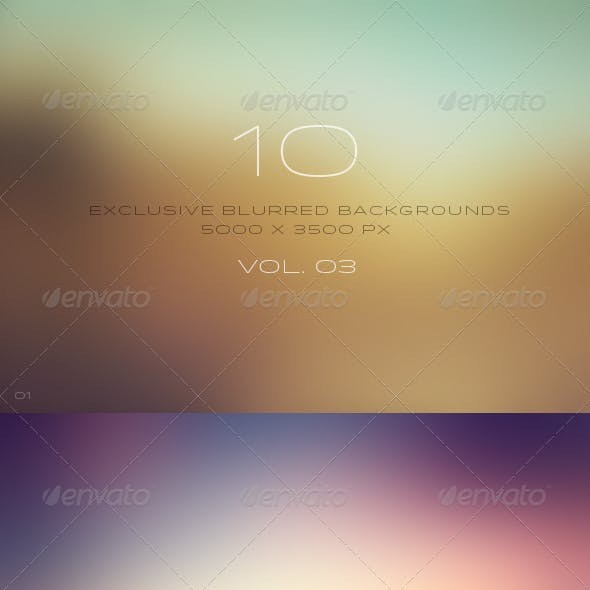 10 Blurred Backgrounds Vol. 03 // 4k Ultra HD
