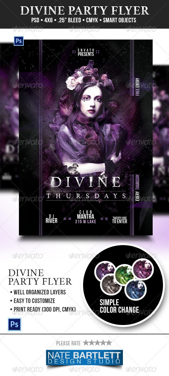 Divine Party Flyer - Events Flyers
