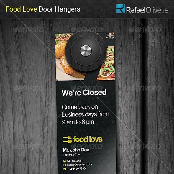 Food Love Door Hanger