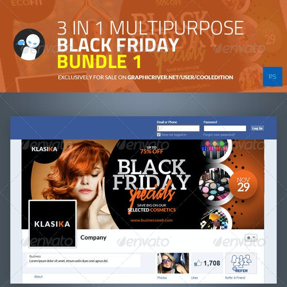 3 in 1 Multipurpose Black Friday Bundle 1
