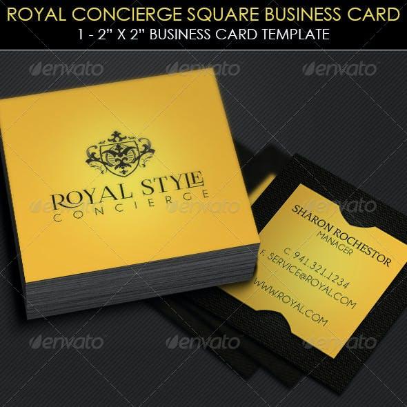 Royal Concierge Square Business Card Template