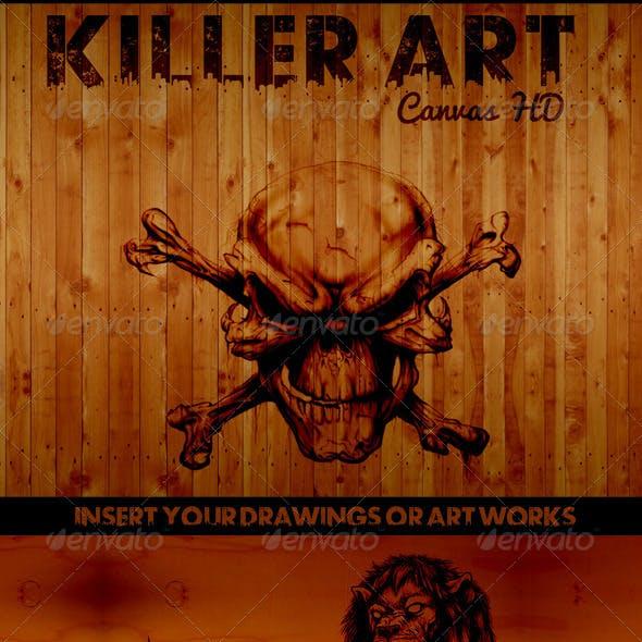 Killer Art Canvas HD ( Mock-Up )