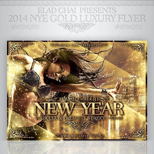 2014 NYE Gold Luxury Winter Flyer