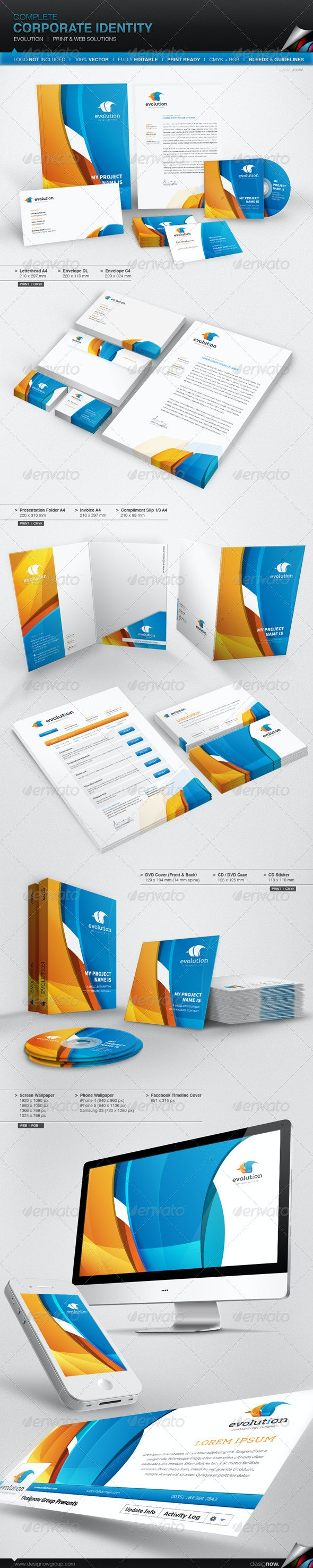 Corporate Identity - Evolution - Stationery Print Templates
