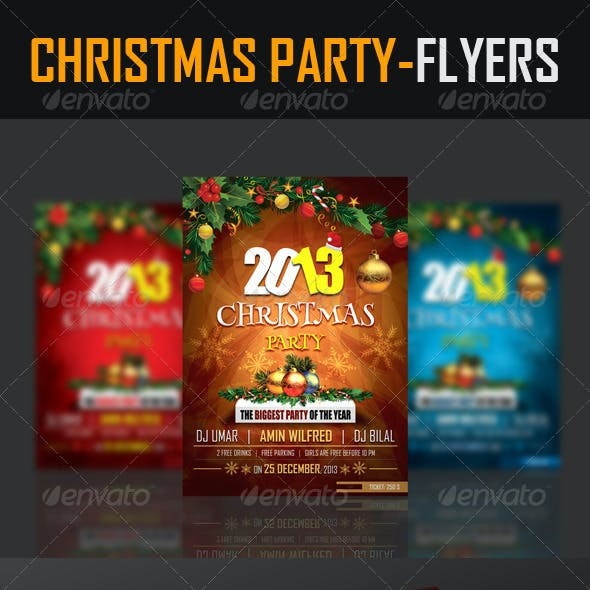 Christmas Party Flyers