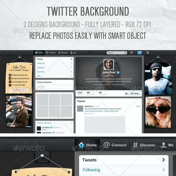 Twitter Background Designs