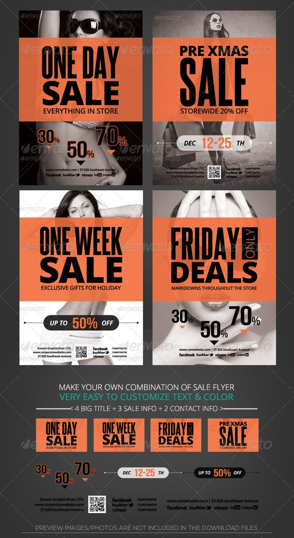 Store Sale Flyer Template - Commerce Flyers