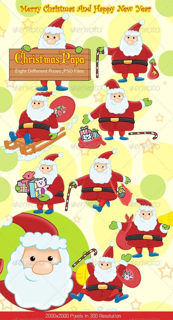 Christmas Santa Claus  - Characters Illustrations