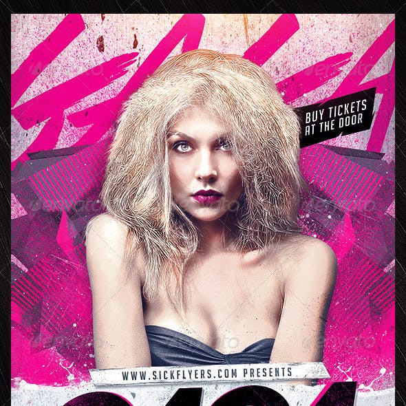 Gaga Flyer Template