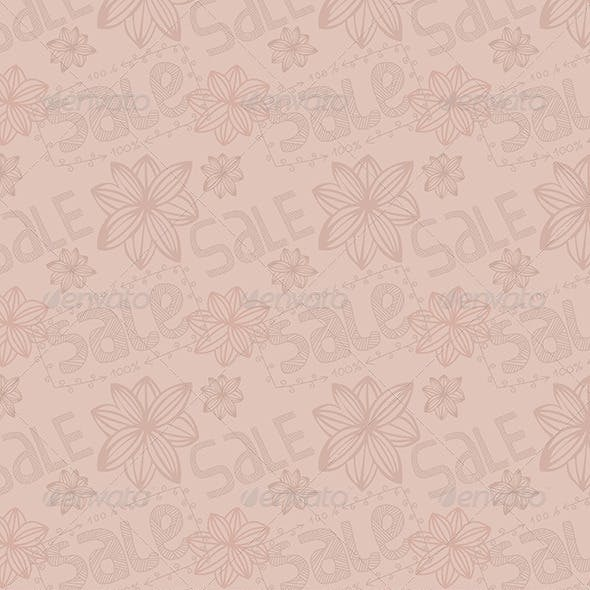 Spring Sale Seamless Pattern