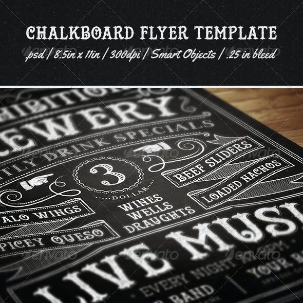 Chalkboard Flyer Template