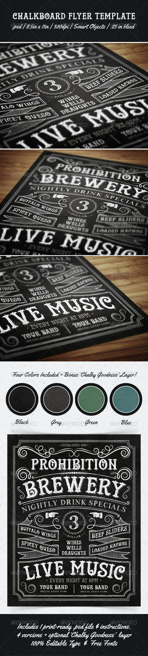 Chalkboard Flyer Template - Miscellaneous Events