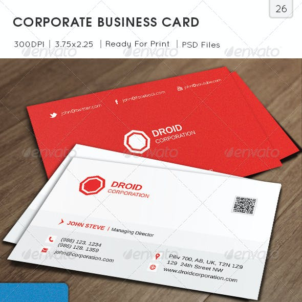 Corporate Business Card v26