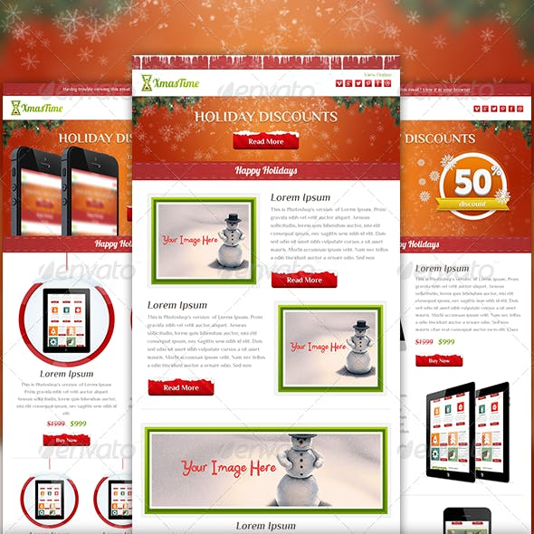 XmasTime - Holiday Business Email Template PSD