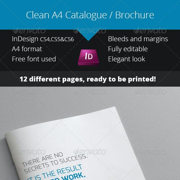 Clean Blue Catalogue - Brochure InDesign Template