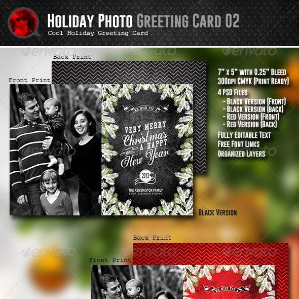 Holiday Photo Greeting Card 02