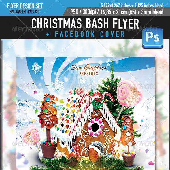 Xmas Christmas Bash Party Flyer Template